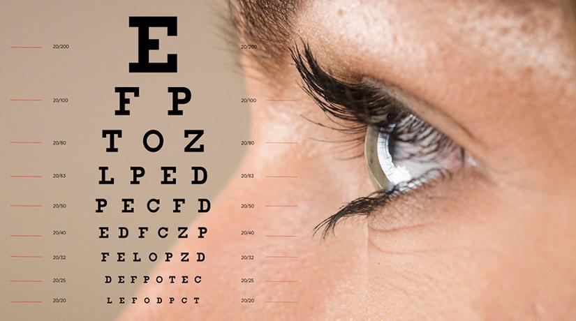 la verificarea vederii, ochii sunt îngropați