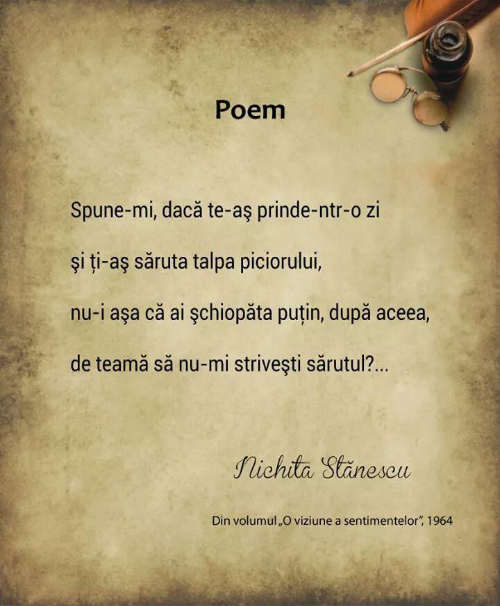 Emoţie de toamnă, de Nichita Stănescu | Versuri de acasă