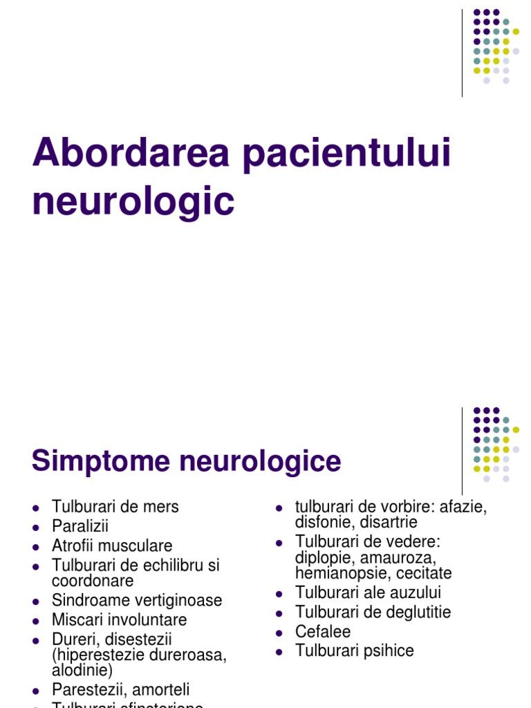 Ce afectiuni diagnosticheaza neurologul