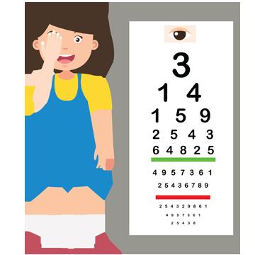 vederea implantului ocular