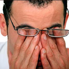 vederea se deteriorează din cauza oboselii