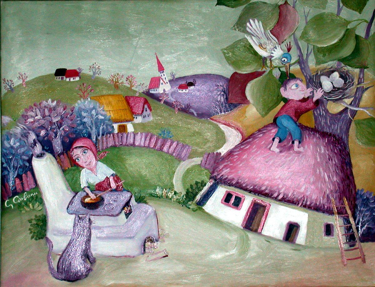 SATUL, in viziunea pictorului Gheorghe Ciobanu