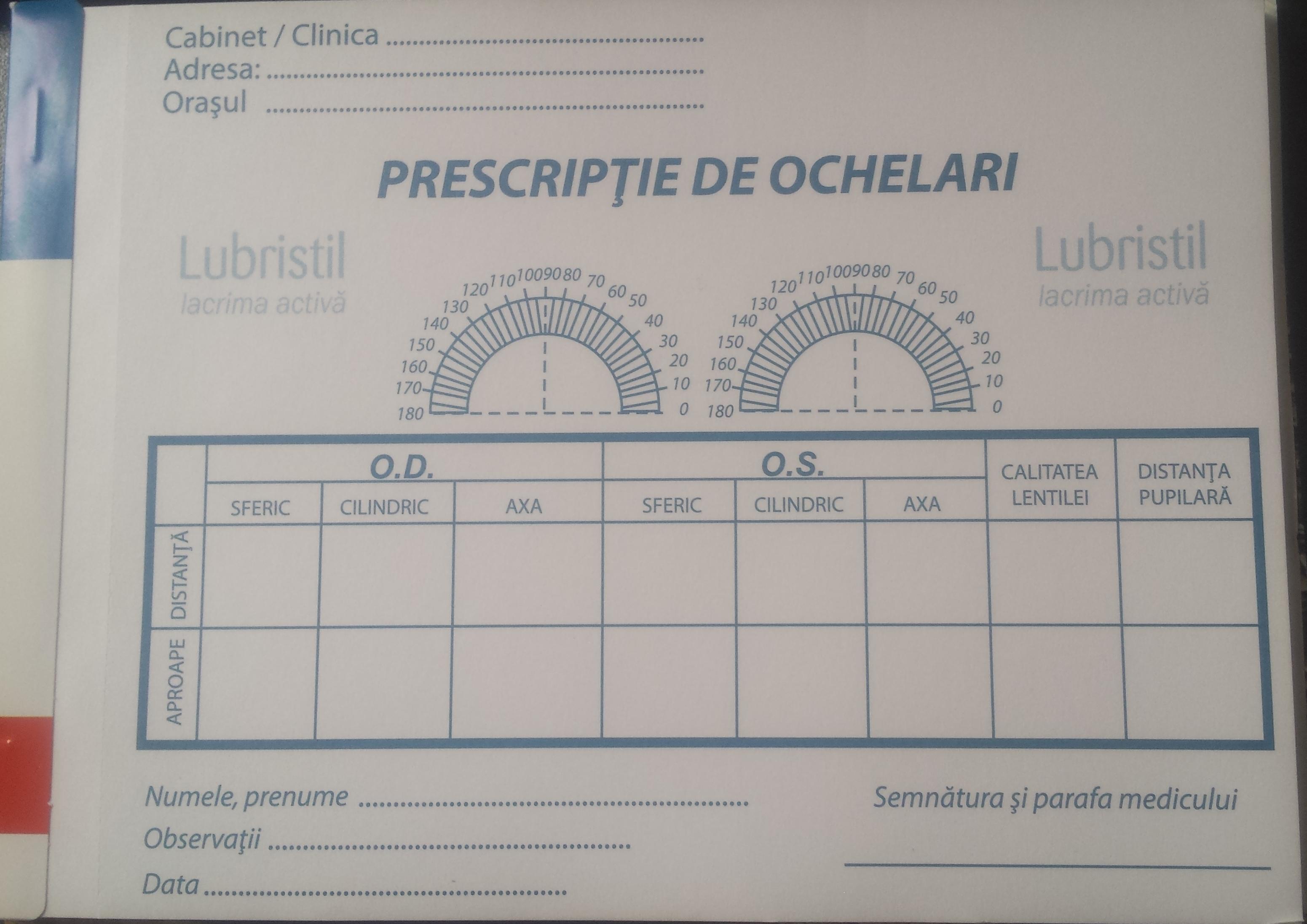 tabel pentru testul viziunii în litere