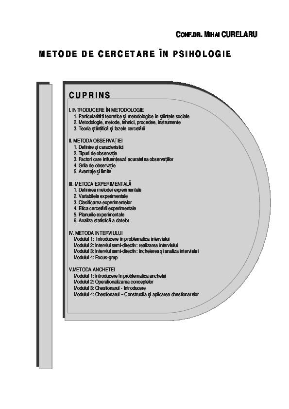 metode de cercetare funcție vizuală