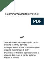 D. Sivtseva pentru studiul acuității vizuale