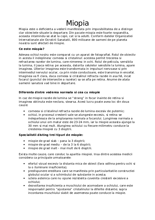 Oftalmopediatrie - Dora Optics