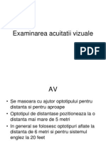 Acuitate vizuală 0,5 - Miopie -