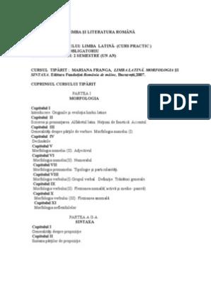 tabel de testare a viziunii latine